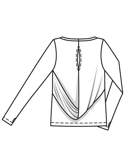 Шьём трикотажный пуловер ссекретом: модель 106 изBurda 1/2018″ class=