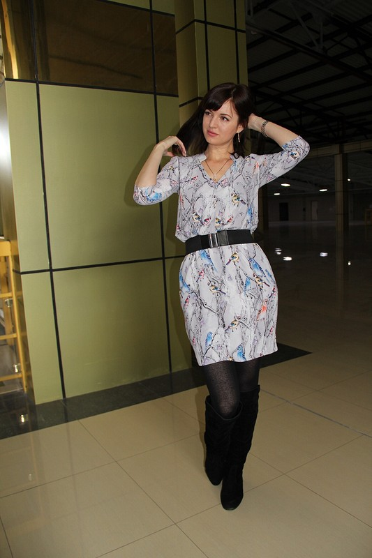Платье сптичками
