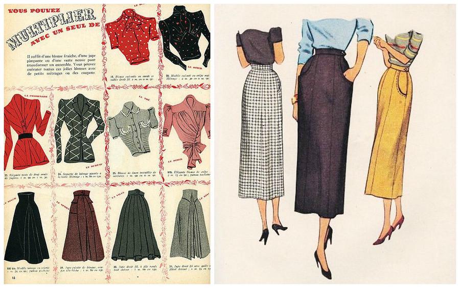 Модные советы дляневысоких девушек изкниг 1940-х годов