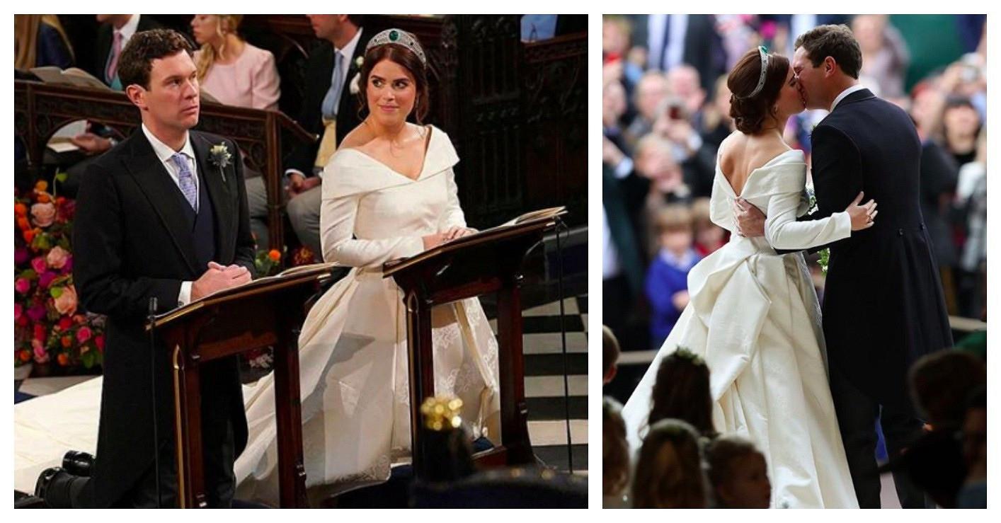 Королевская свадьба: принцесса Евгения вроскошном платье сдлинным шлейфом