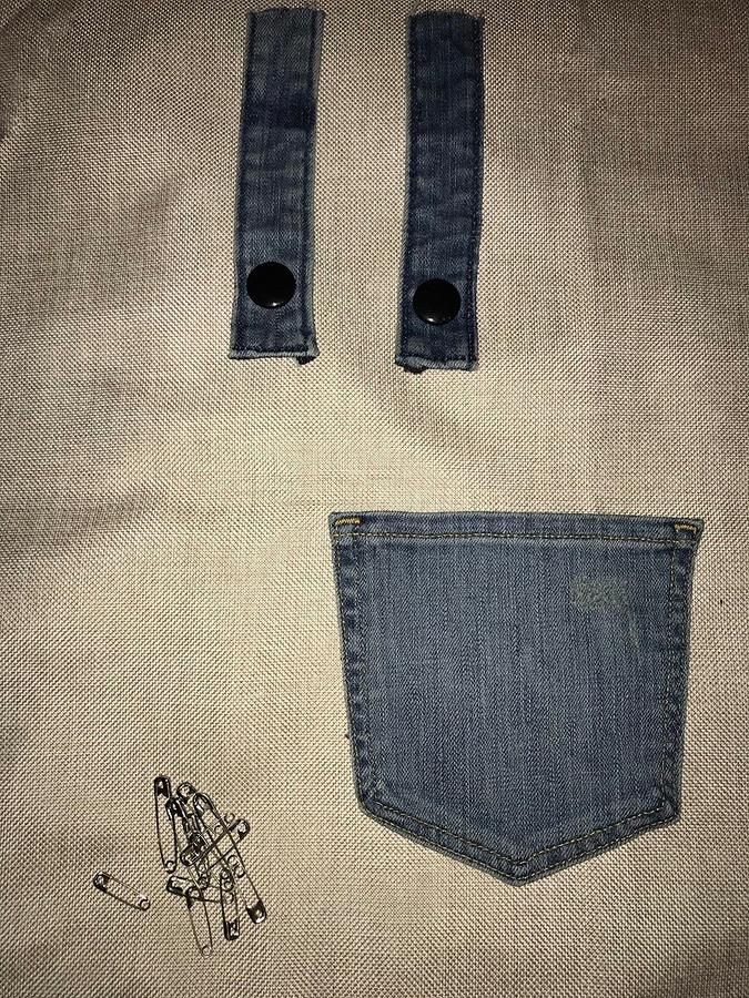 Как декорировать одежду джинсовыми карманами