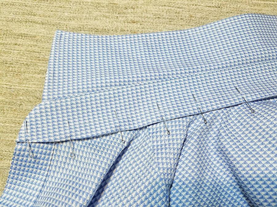 Обработка воротника мужской рубашки скулисками длякосточек