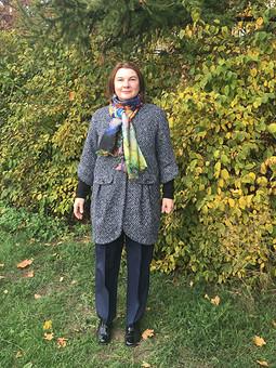 Работа с названием Пальто на теплую осень