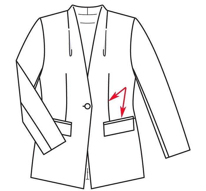 Как выполнить разрезную вытачку скарманом наполочке изделия