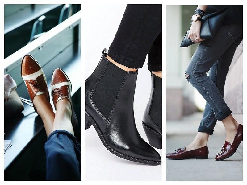 Мужская обувь вженском гардеробе: как подчеркнуть женственность