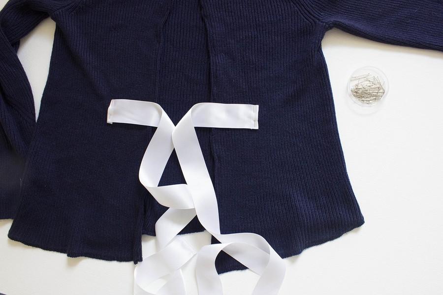 Из старого новое: пуловер соткрытой спинкой ибантом