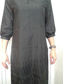 Работа с названием Платье с рукавом реглан