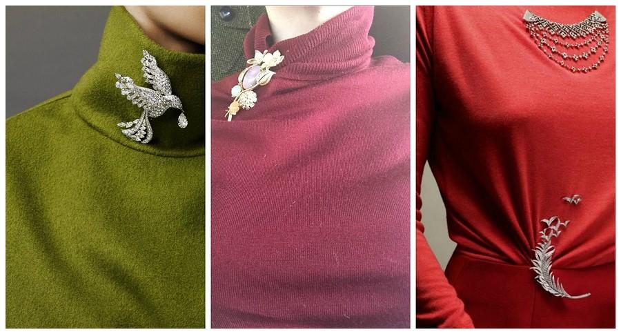 Как красиво носить брошь