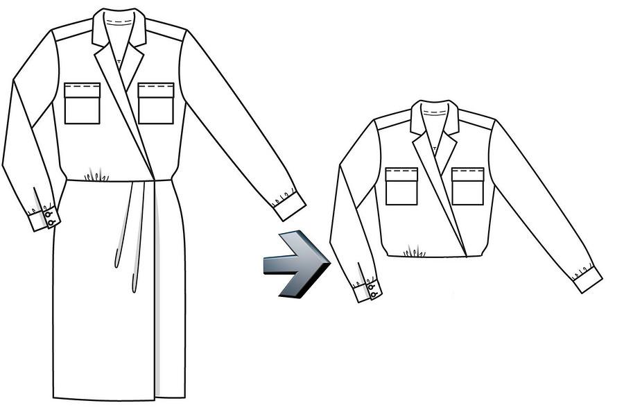 Как сшить голубое платье-пальто Кейт Миддлтон