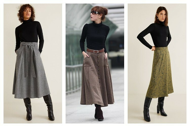 С чем носить длинную юбку зимой: 7 универсальных вариантов