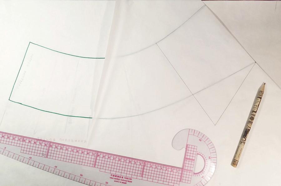 Баска: моделирование эффектной детали наоснове выкройки платья-футляр