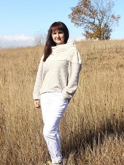 Работа с названием пуловер с широким воротником