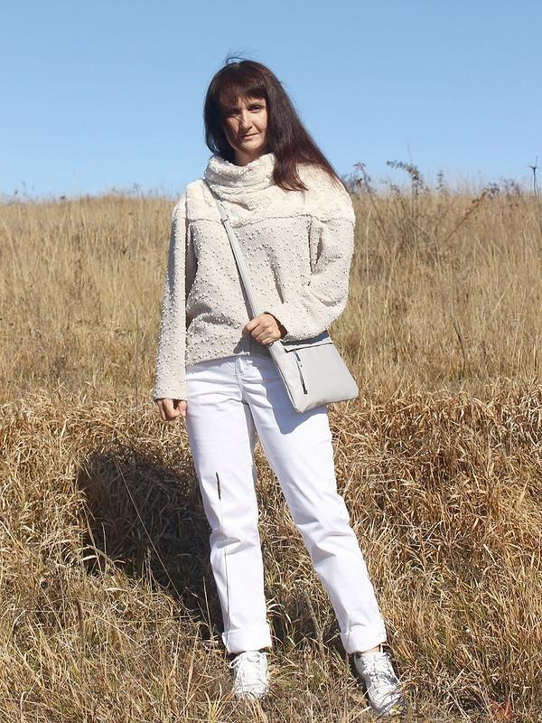 пуловер сшироким воротником от heleniqueen