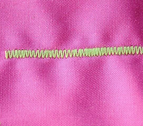 Школа шитья: зигзагообразная строчка