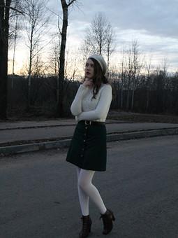 Работа с названием Зелененькая юбочка...