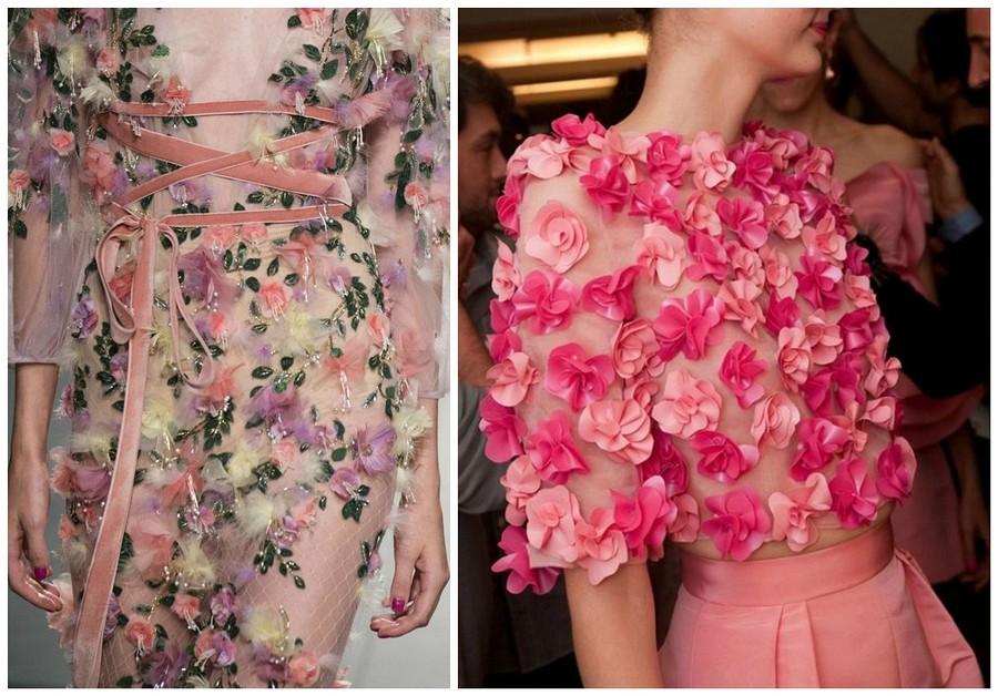 Как изсказки: украшаем платье цветами изшифона