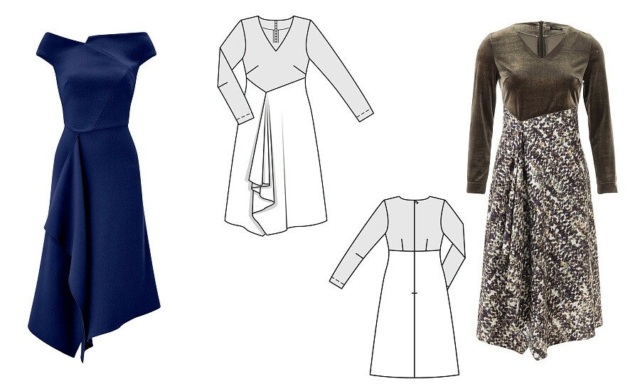 Как сшить платье Меган Маркл отRoland Mouret повыкройке Burda