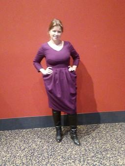 Работа с названием Платье с необычными карманами
