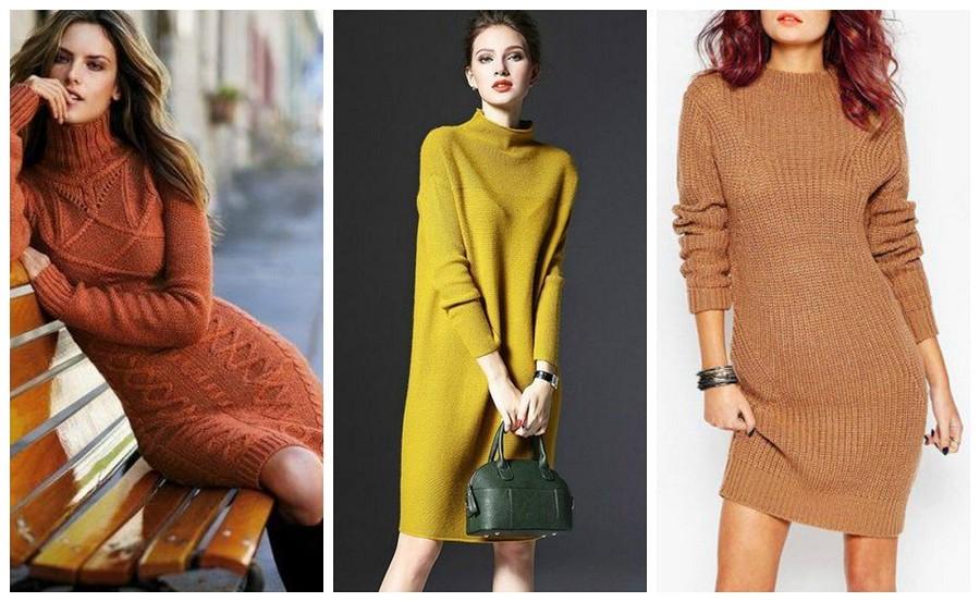 Тепло ипрактично: счем носить платье-свитер