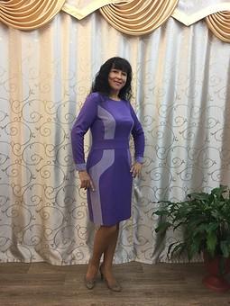 Работа с названием Платье-футляр по выкройке юбки