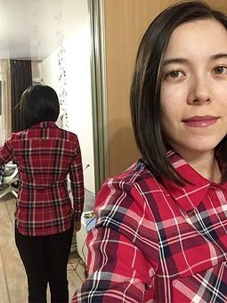 Работа с названием Рубашка чётко по фигуре