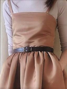 Работа с названием Чайная роза - пыльная роза (платье на бретелях)