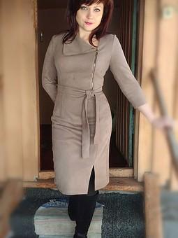 Работа с названием Платье из замши