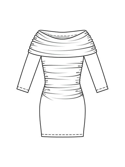 Как сшить платье ипуловер поодной выкройке