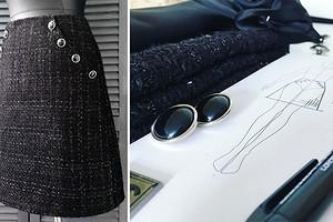 Как сшить юбку А-силуэта из твида