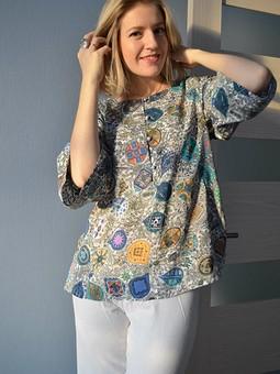 Работа с названием Блуза в этно-стиле