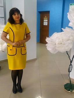 Работа с названием Солнечное платье)