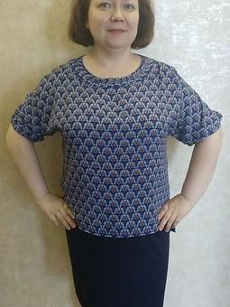 Работа с названием Блуза с драпировкой