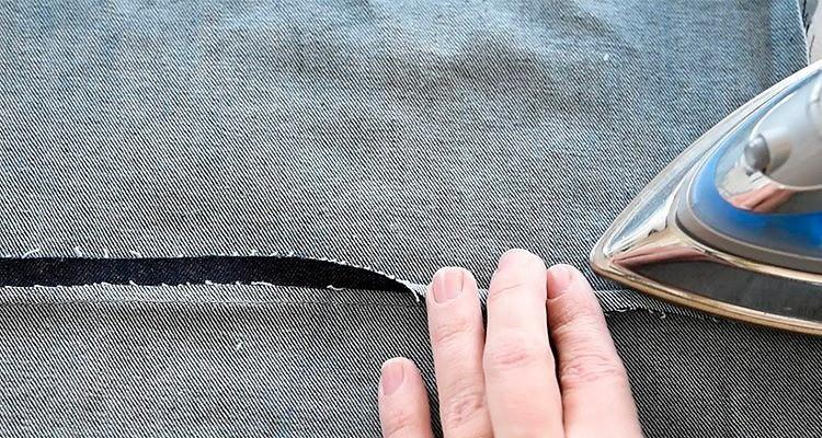 Запошивочный шов как наджинсах