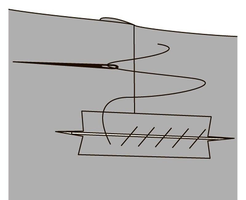 Обработка прорезного кармана врамку