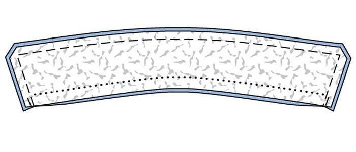 Обработка воротника со стойкой