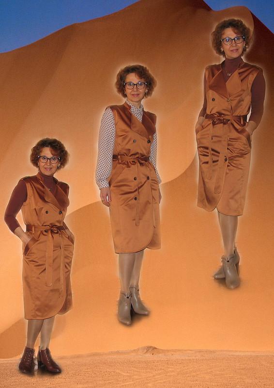 Апрельское платье-сафари