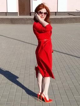 Работа с названием «Lady in Red»