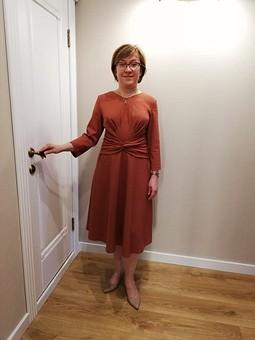 Работа с названием Привлекательное платье