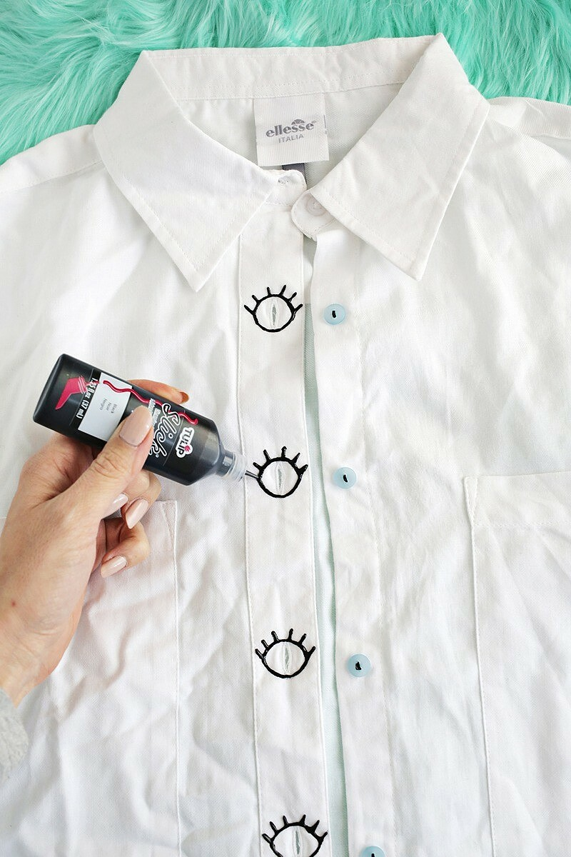 Забавная переделка застёжки блузки: «Глаза шпиона»
