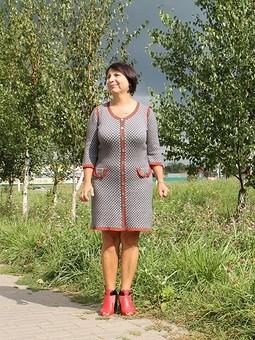 Работа с названием Платье вязаное
