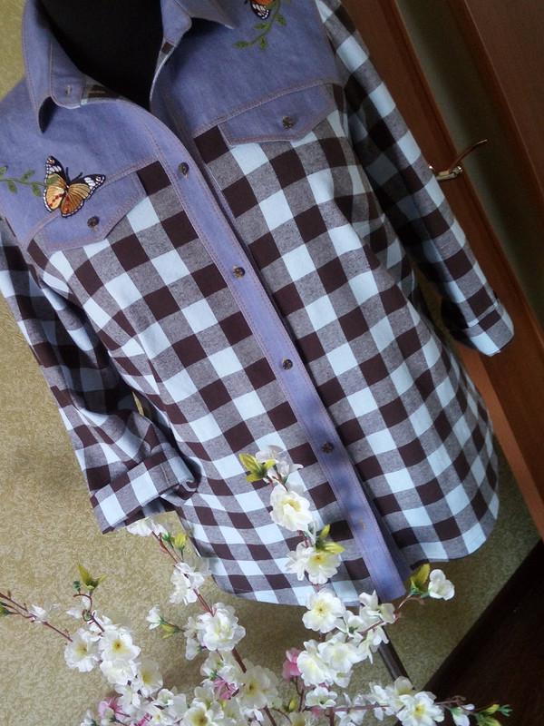 Рубашка сбабочками от anechka79