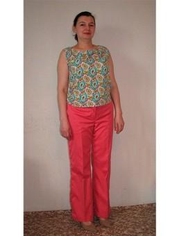Работа с названием Розовые брюки для хорошего настроения