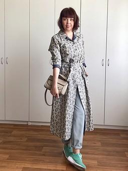 Работа с названием Лён. Платье или пальто?