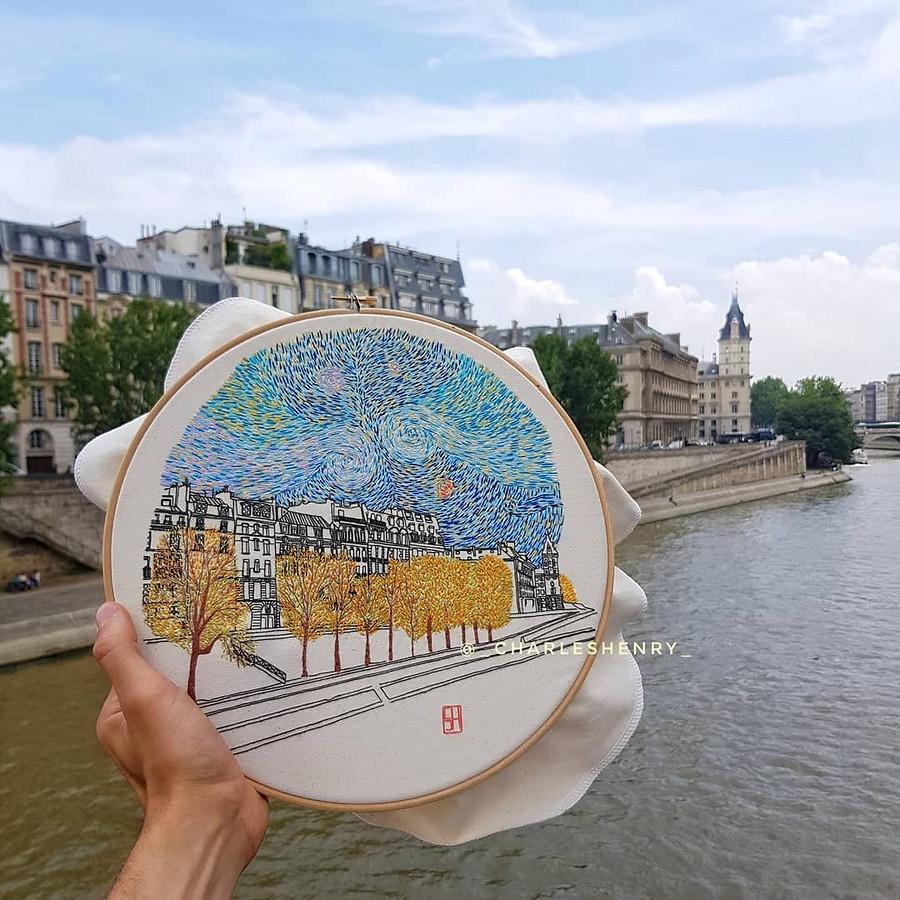 Архитектурная вышивка отпары путешественников: instagram недели