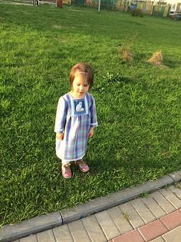Работа с названием Проба пера: платье и юбка для внучки