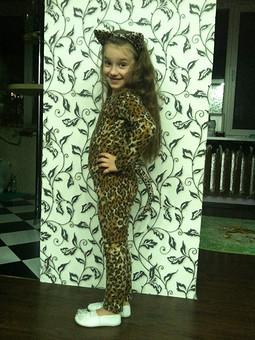 Работа с названием Милаха леопард*****