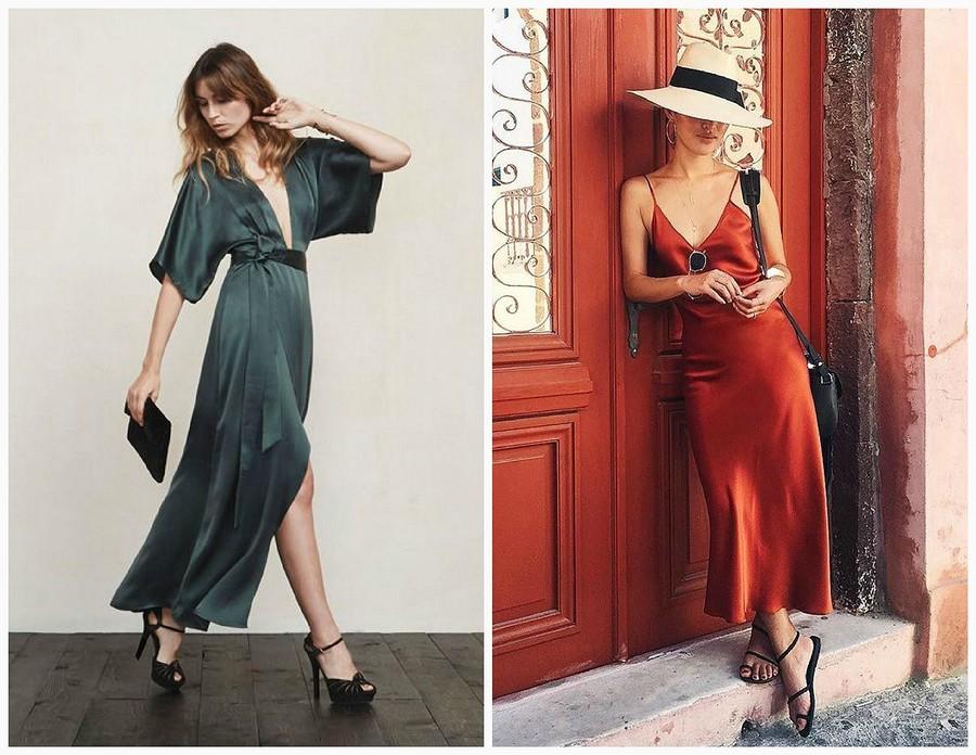 Предмет роскоши: шелковое платье