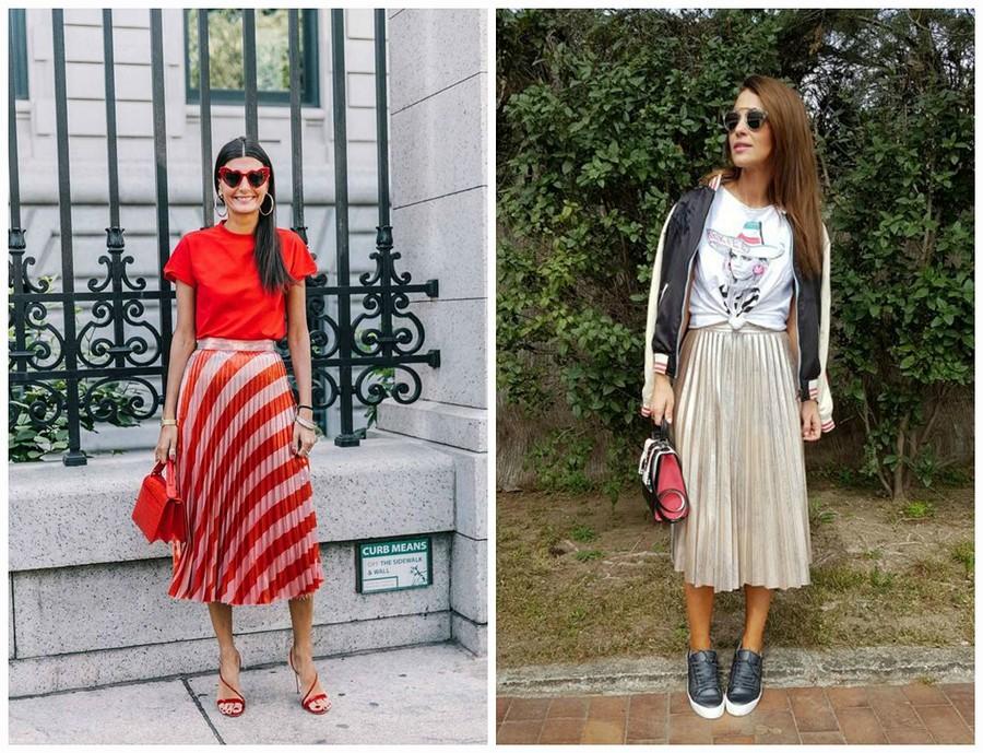 С чем носить юбку плиссе: 9 эффектных вариантов