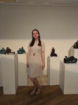 Работа с названием Платье по мотивам Андре Курреж