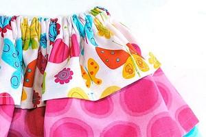 Пышная юбка с тремя оборками